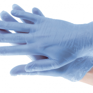 Clear Blue Gloves